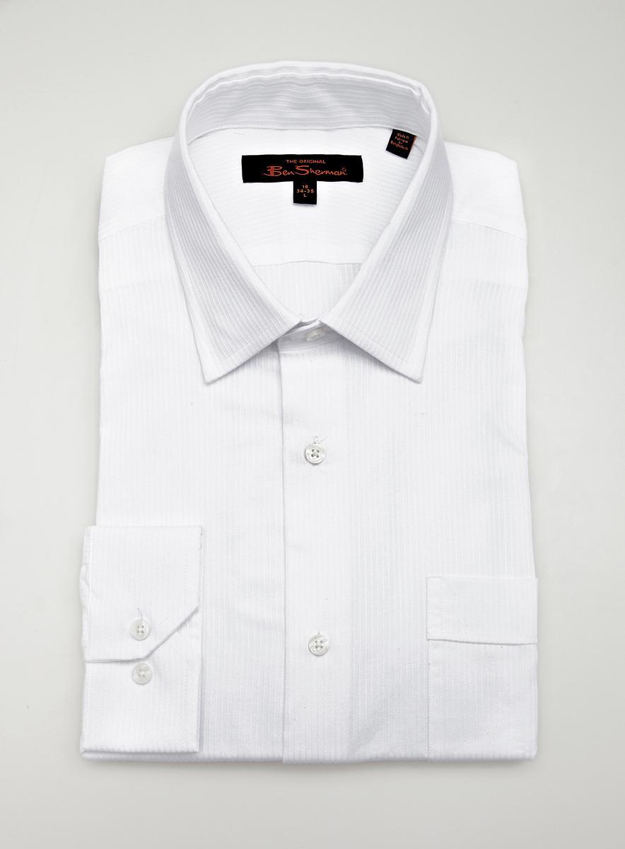 Ben Sherman Dress Shirt White Stripe