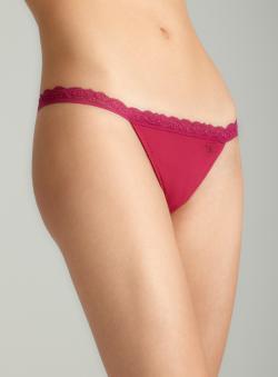 Jessica Simpson Micro Bikini W/Allover Lacebck