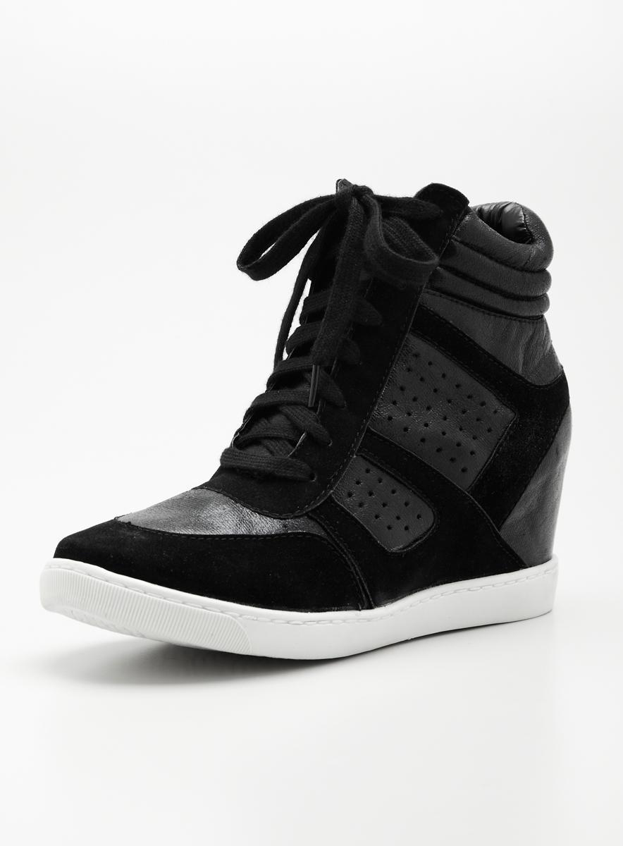 Wanted Wooster Wedge Sneaker In Black