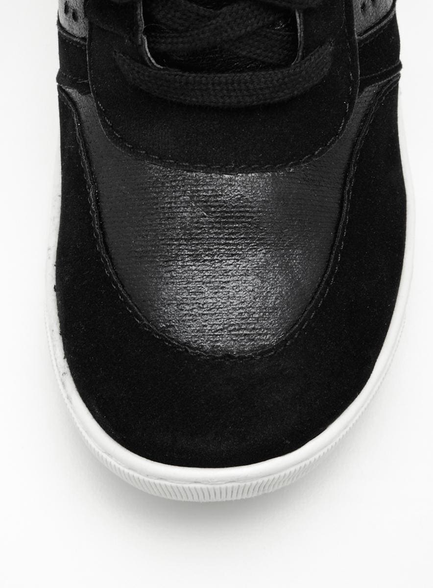 Wanted Wooster Wedge Sneaker In Black