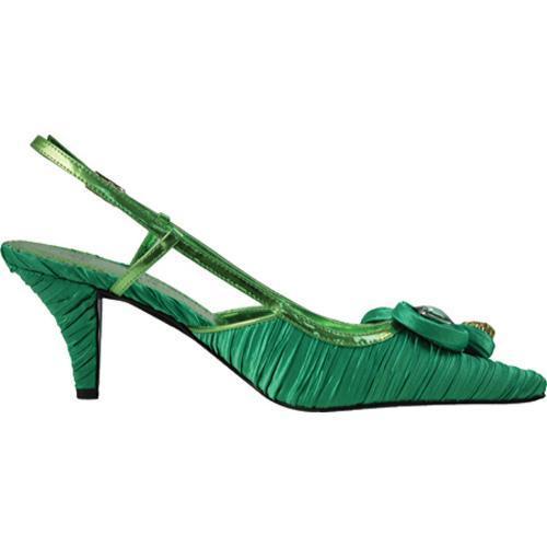 Women's J. Renee Alida Classic Green Pleated Fabric