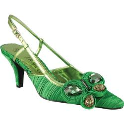 Women's J. Renee Alida Classic Green Pleated Fabric