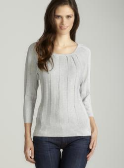 Joseph A Lurex 3/4 Sleeved Sweater