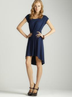 Soprano Short Sleeve Hi-Low Dress