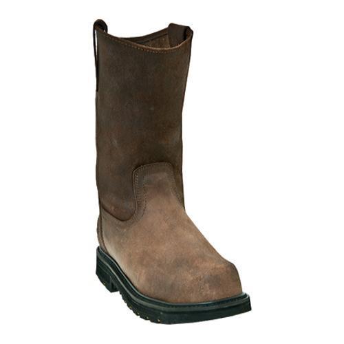 Men's McRae Industrial 11in Composite Toe Wellington MR85314in Dark Brown Leather
