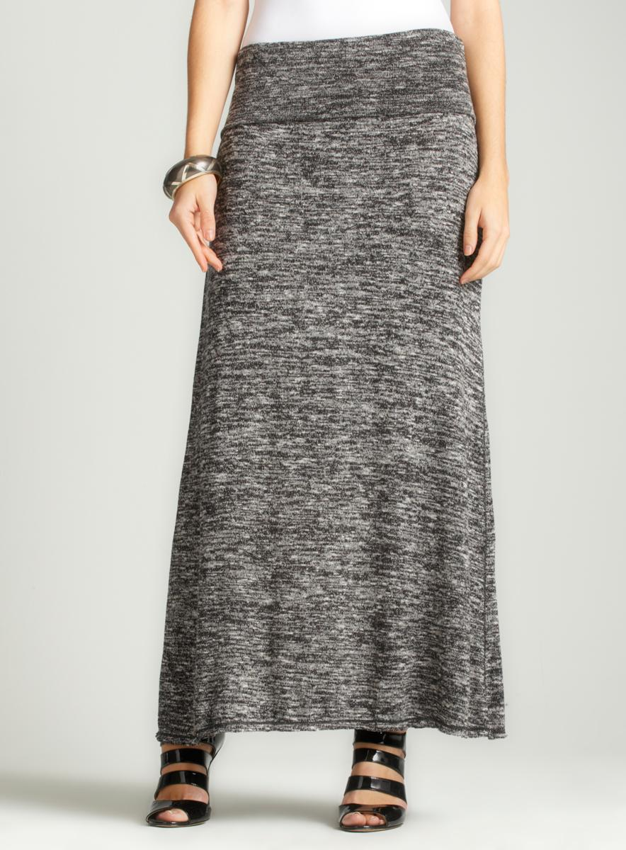 Max Studio Thick Banded Maxi Skirt
