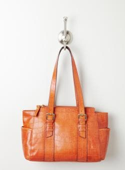 Perlina Lindsay Croco E/W Tote
