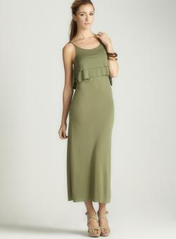 Anama Double Tier Popover Maxi Dress