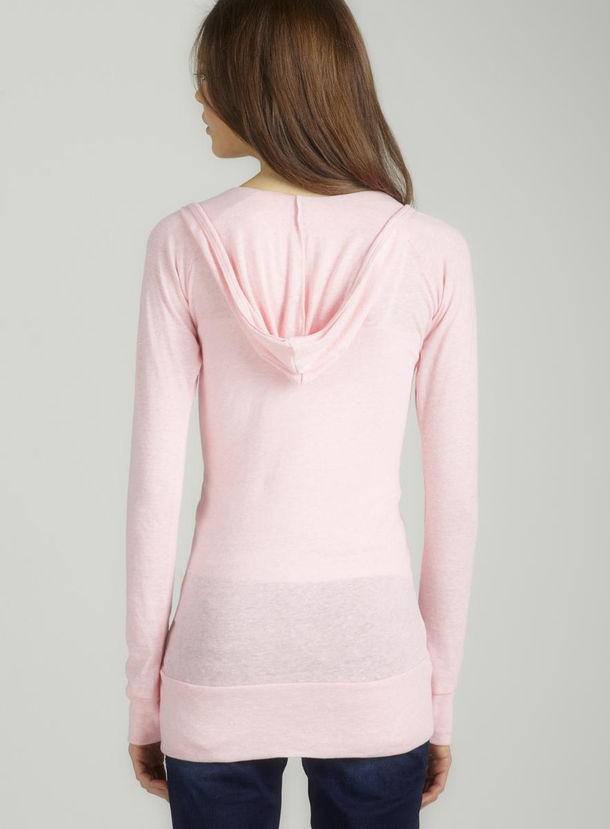 Alternative Eco pink l/s deep v hoodie