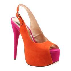 Women's Luichiny Too Much Fun Orange/Fuchsia Imi Suede