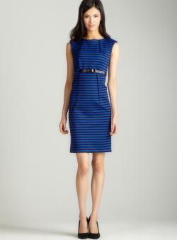 Premise Belted sleeveless dress