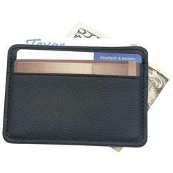 Embassy Men's Black Leather Clip Wallet