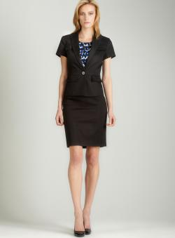 Calvin Klein Single button skirt suit