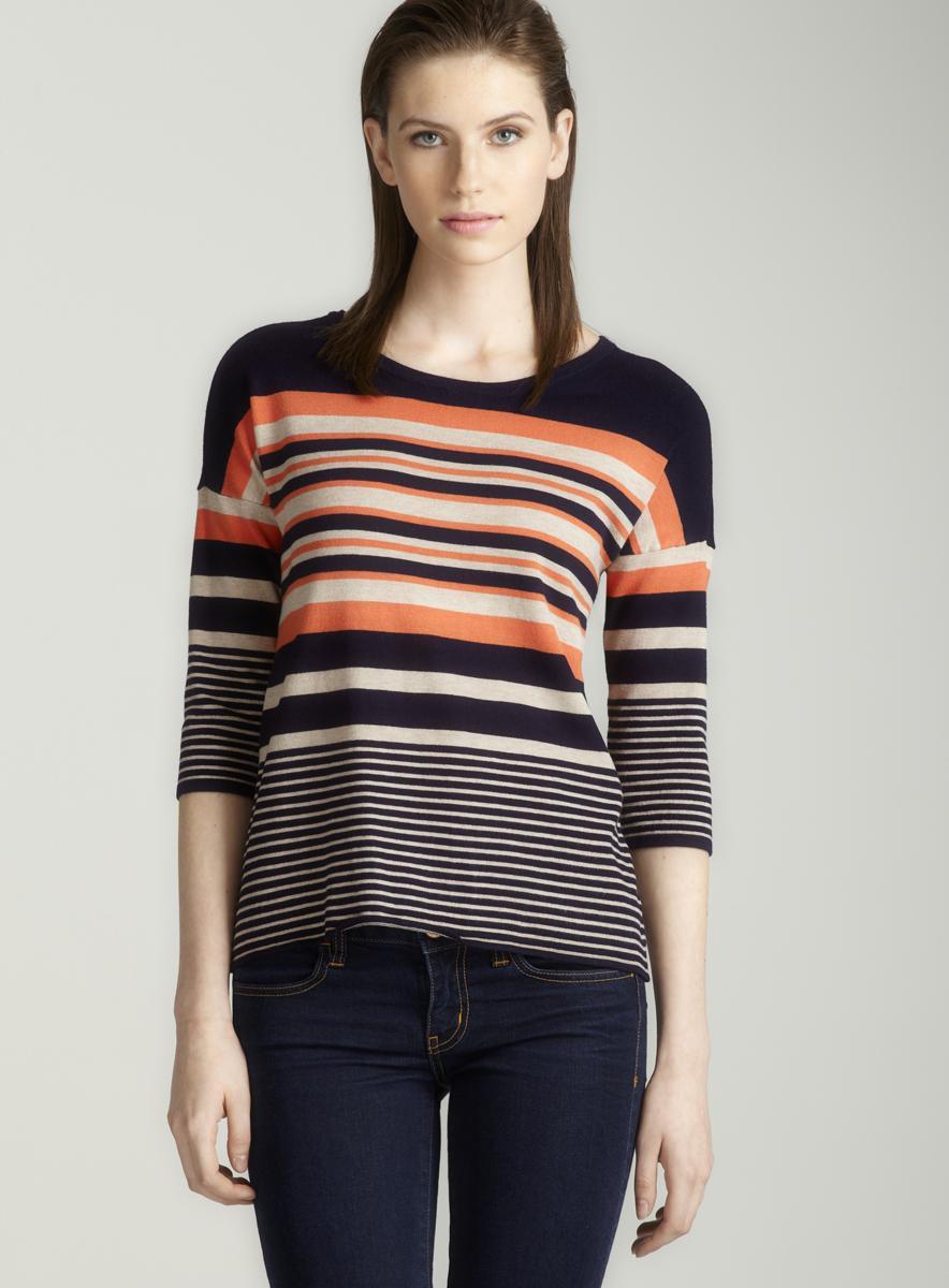 Red Stripe dolman sleeve