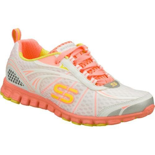 Women's Skechers EZ Flex Barbed Wire White/Orange