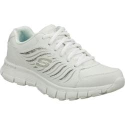 Women's Skechers Flex Fit Rock N Glitz White/Silver