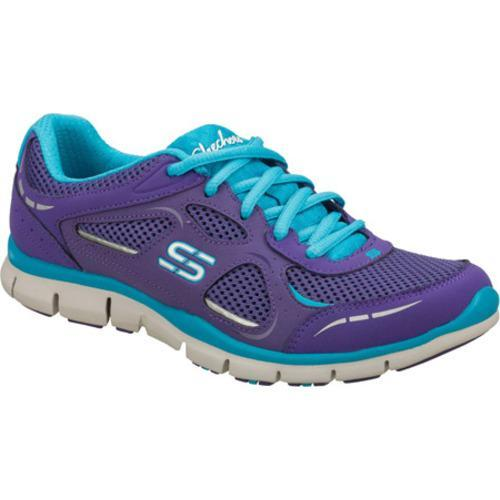 Women's Skechers Gratis Threshold Purple/Blue