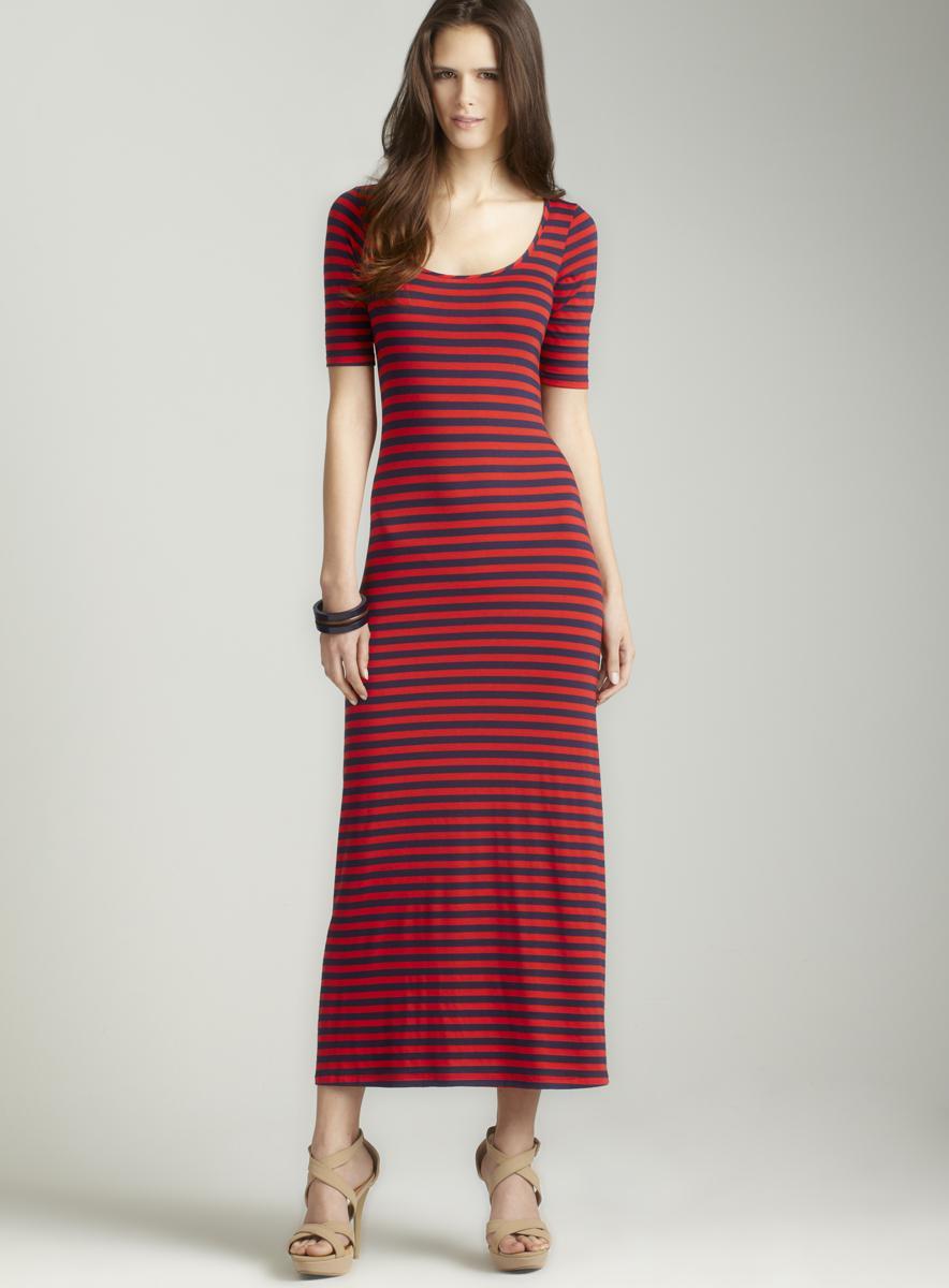 Moa Moa Thick striped maxi dress