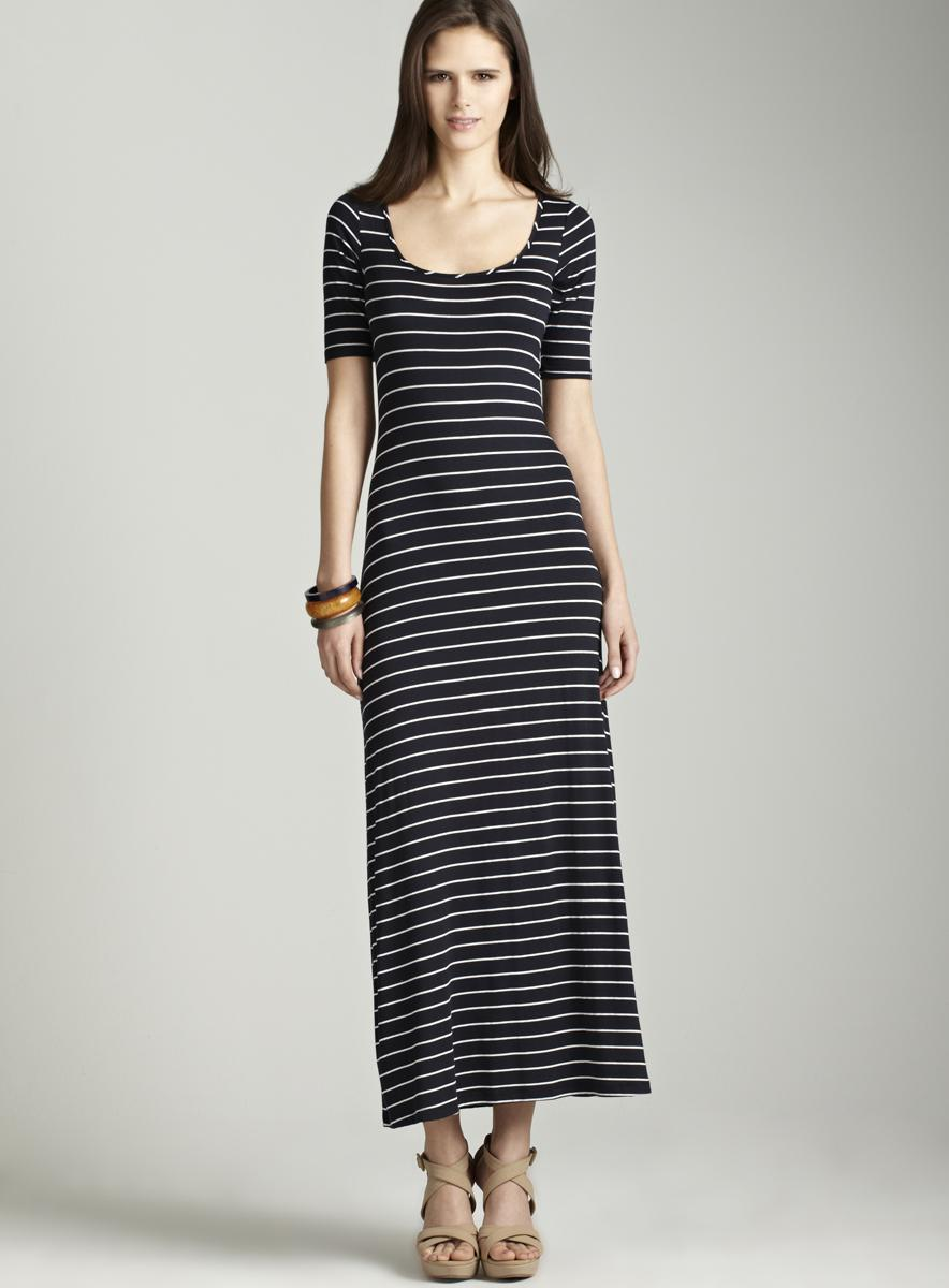 Moa Moa Thin striped maxi dress