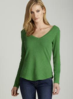 Threads 4 Thought Cassidy v neck thermal B