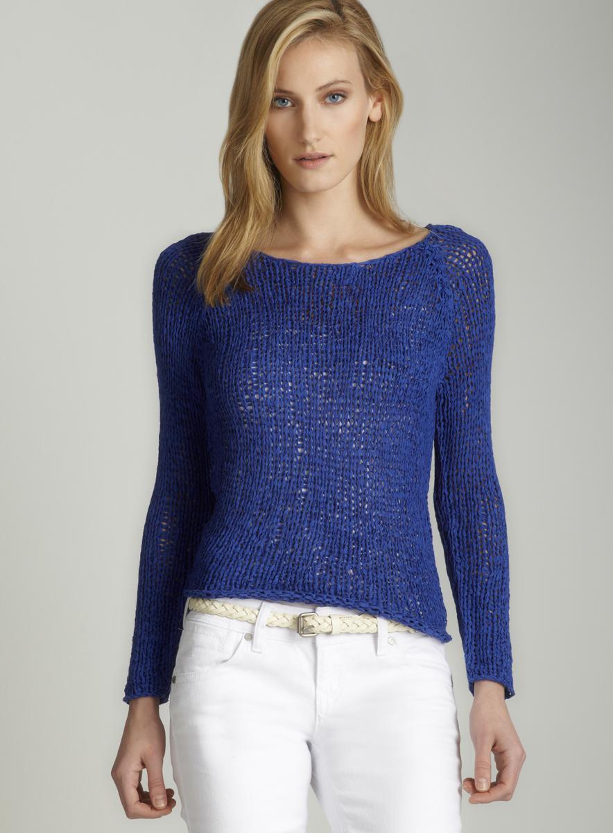 Workshop Tape yarn sweater in royal