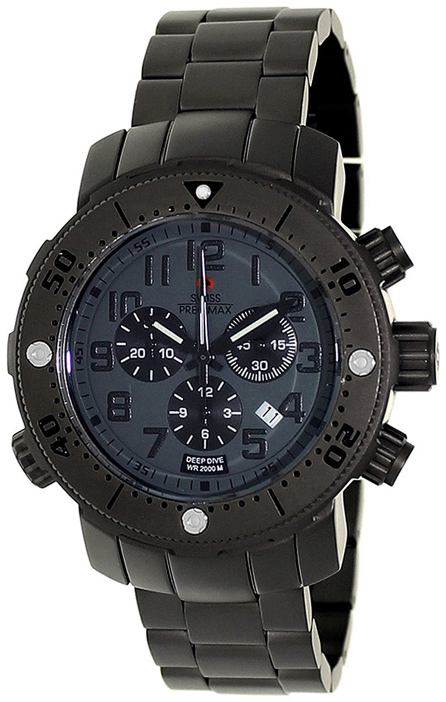 Swiss Precimax Men's Steel Poseiden Deep Dive Pro Watch