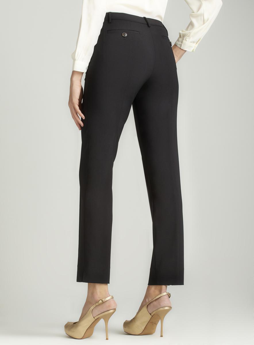 Halston Heritage Skinny leg tailor pant