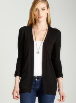 August Silk Dolman cardigan in black