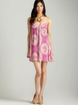 Free People Sheer Babydoll Bust Twist Dress