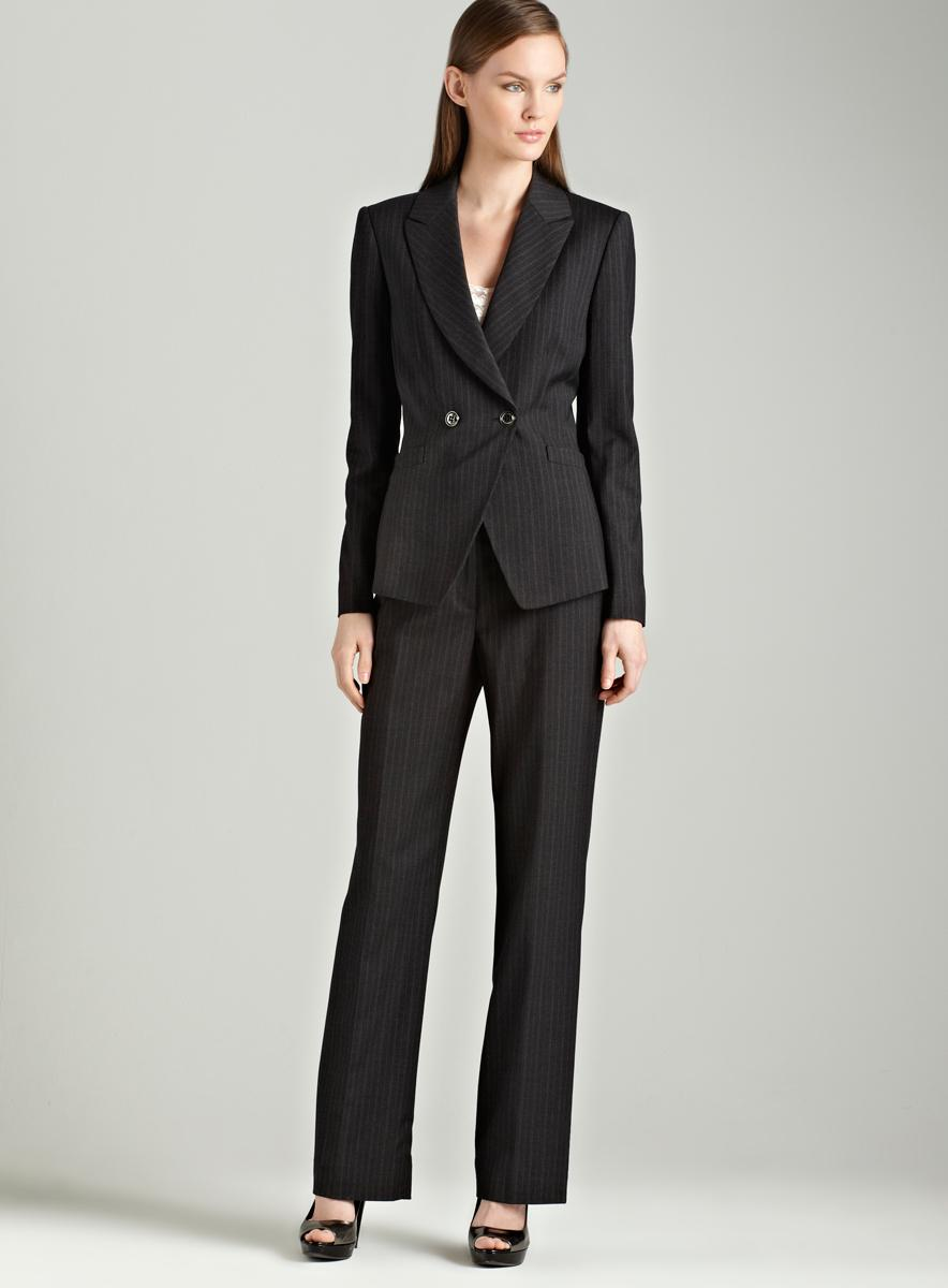 Tahari Charcoal pants suit