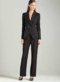 Tahari Charcoal pants suit