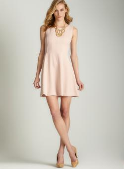 Taylor Zip back fit and flare dress
