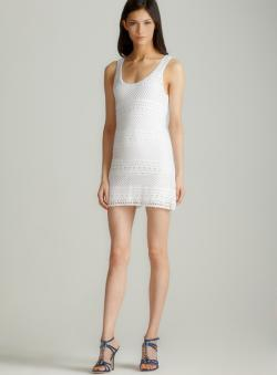 Torn Nikki crochet tank dress