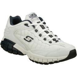 Men's Skechers Juke White/Navy/Navy