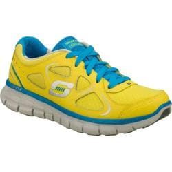 Women's Skechers Synergy High Gear Yellow/Turquoise