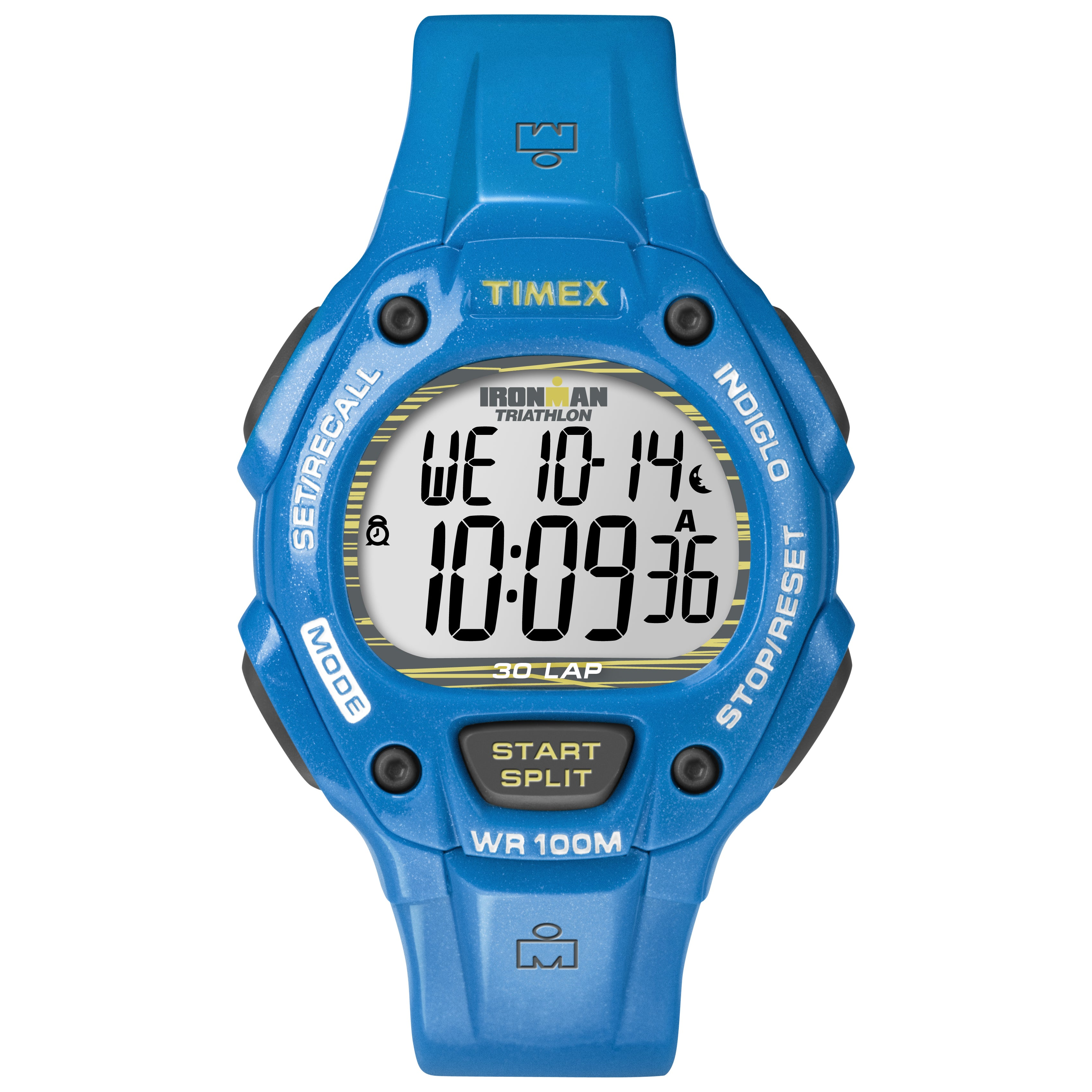 Timex Unisex Ironman Traditional 30-Lap Dresden Blue Resin Watch