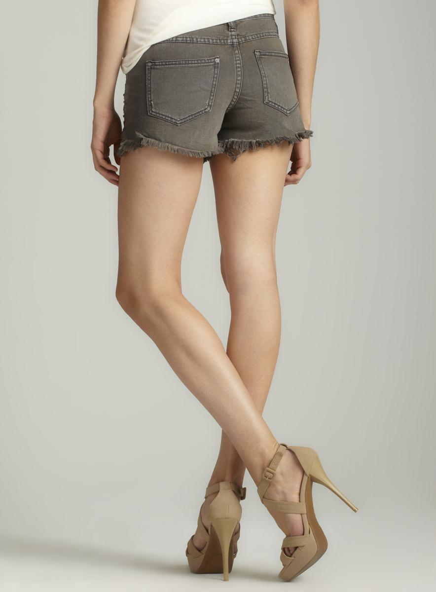Free People Stud Denim Short