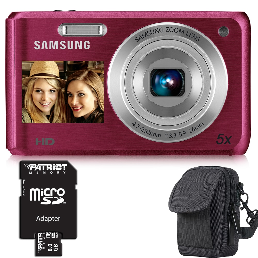Samsung DV100F 16.1MP Digital Camera with 8GB Bundle