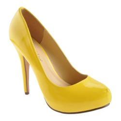 Women's Michael Antonio Loveme Yellow Patent PU