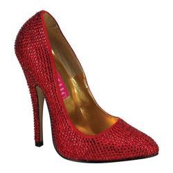 Women's Bordello Scandal 620R Red Rhinestones