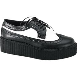 Men's Demonia Creeper 408 Black/White Leather