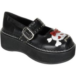 Women's Demonia Emily 221 Black PU