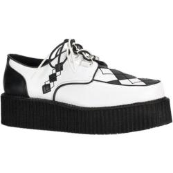 Men's Demonia V Creeper 510 White/Black PU