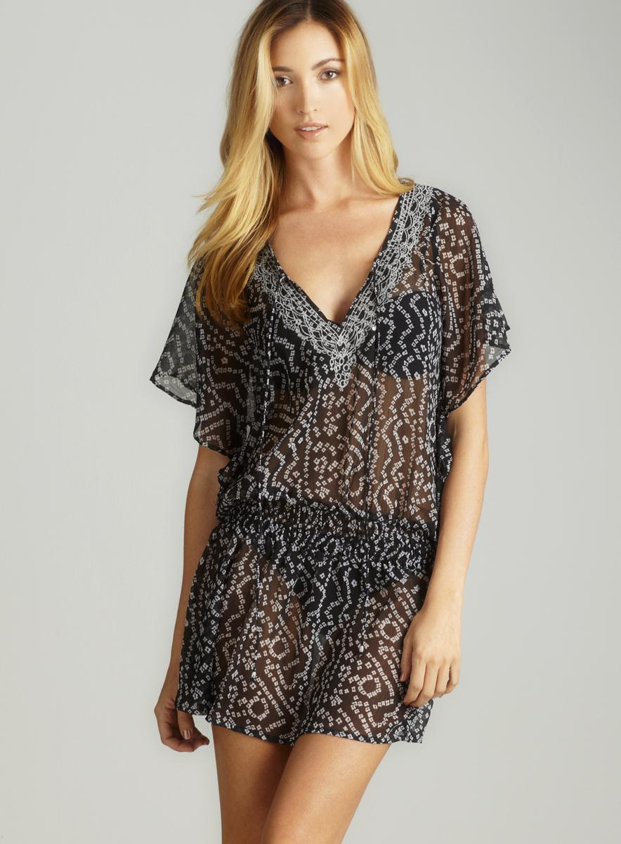 Club Z Chiffon Printed Dress