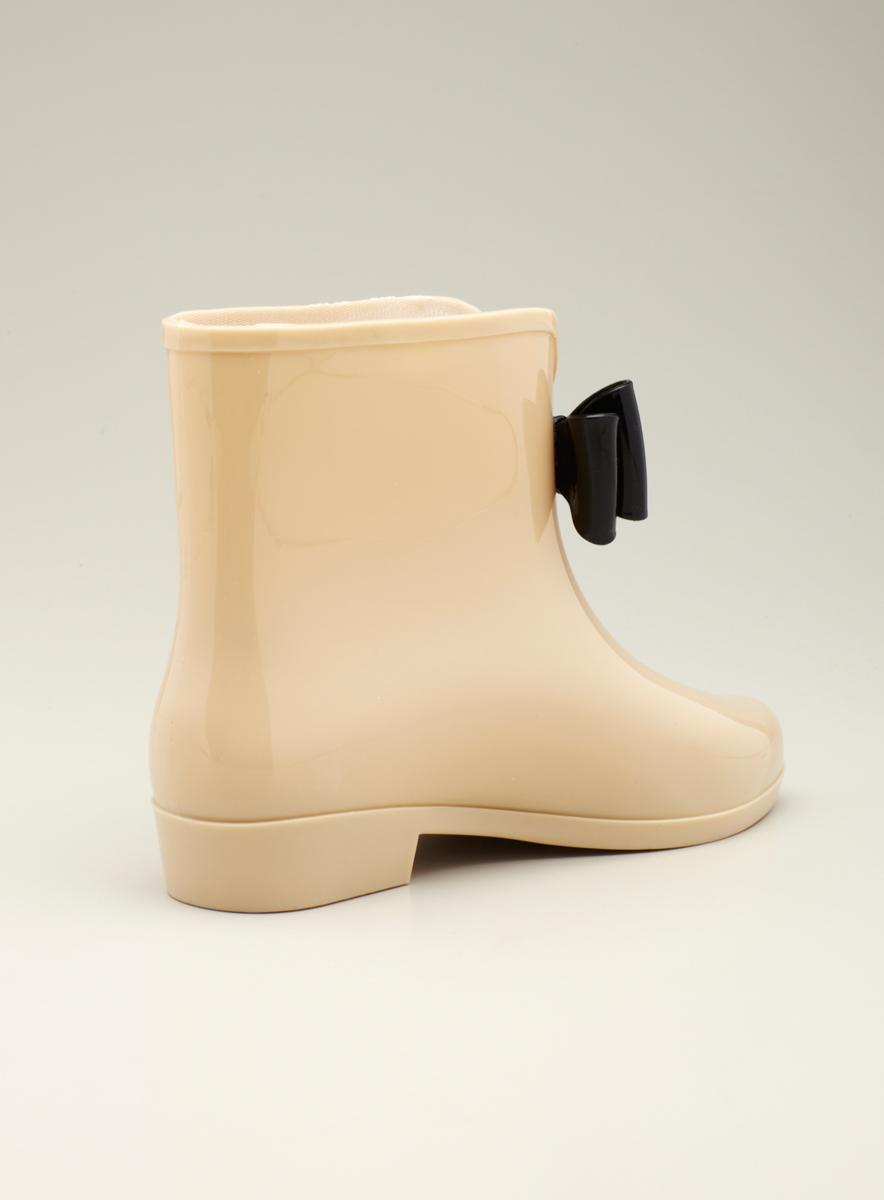 Dizzy Flat Rain Boot Bootie W Bow