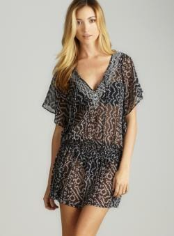 Club Z Chiffon Printed Dress