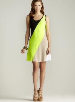 Calvin Klein A-line Colorblock Dress