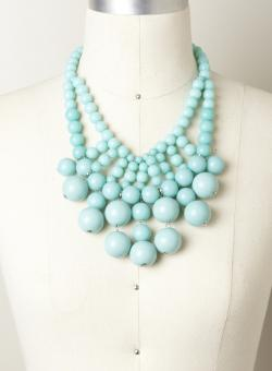 Allure Round Bubble Stone Necklace