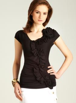 Love Moschino Embellished Ruched Top