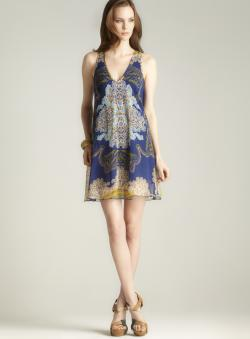 Angie V-neck Printed Dress